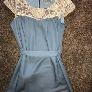 Blue and gold Francesca's Dress! new!